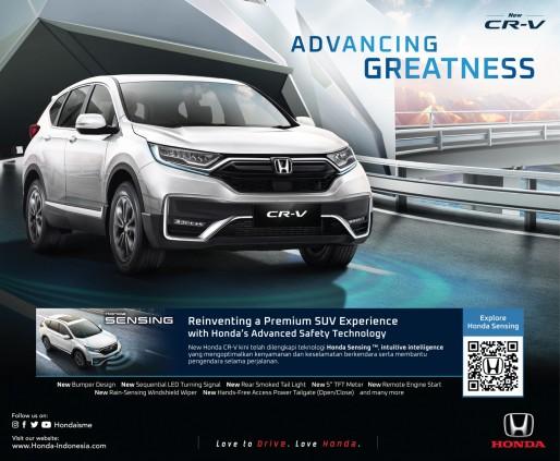 Honda Luncurkan Model Terbaru Honda CR-V, Kini Dilengkapi Teknologi Keselamatan Canggih Honda Sensing